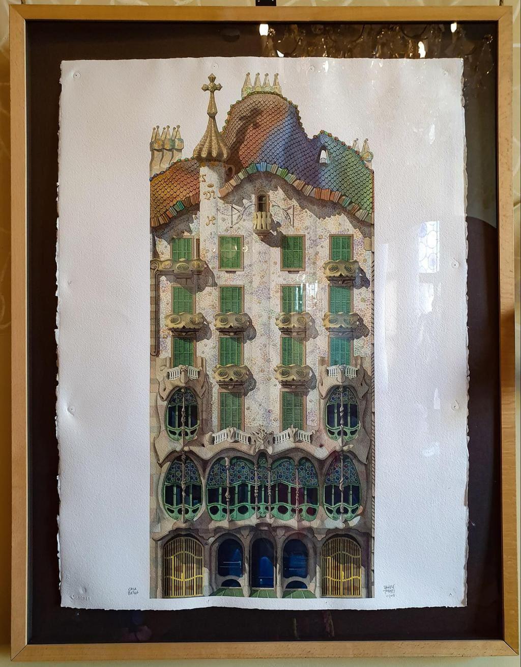 The facade of Casa Batlló