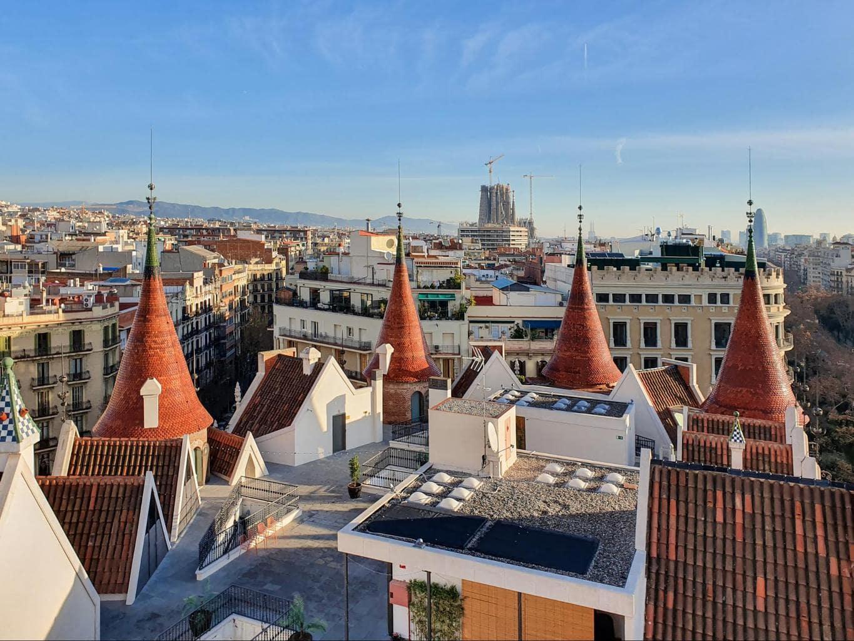 The rooftop of La Casa de les Punxes