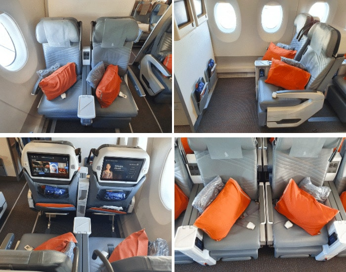 The seats on Singapore Airlines Premium Economy