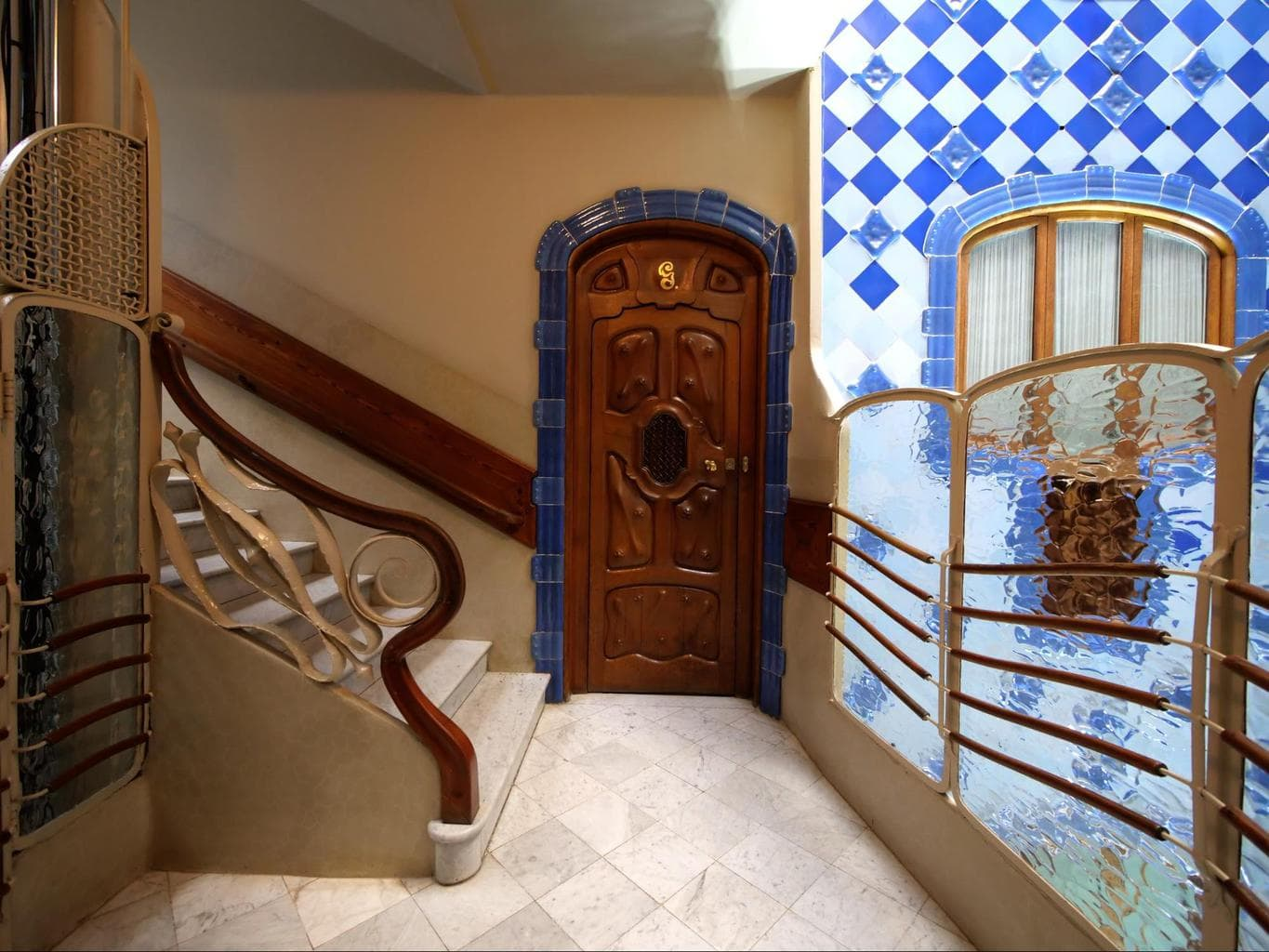 The stairs inside Casa Batlló
