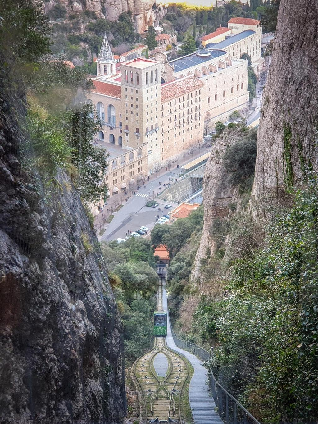 The views down from the funicular de Sant Joan