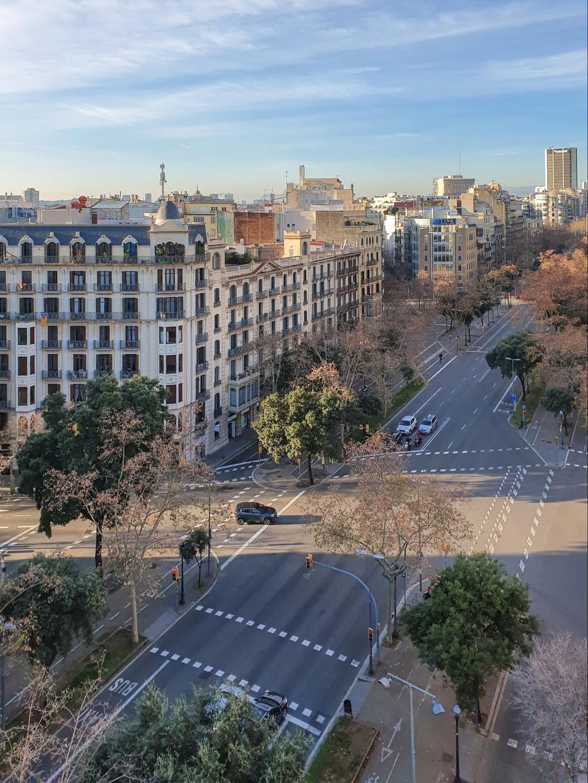 The views from the tower at La Casa de les Punxes