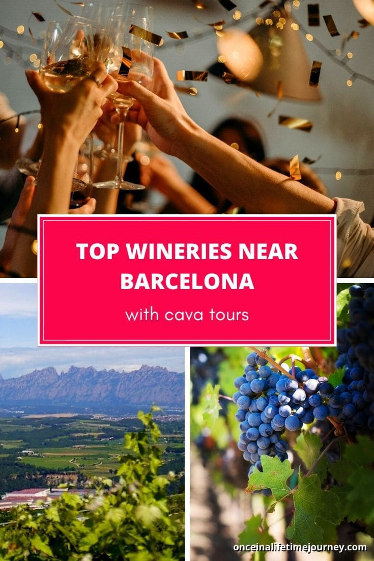 Top wineries near Barcelona including Cava tours