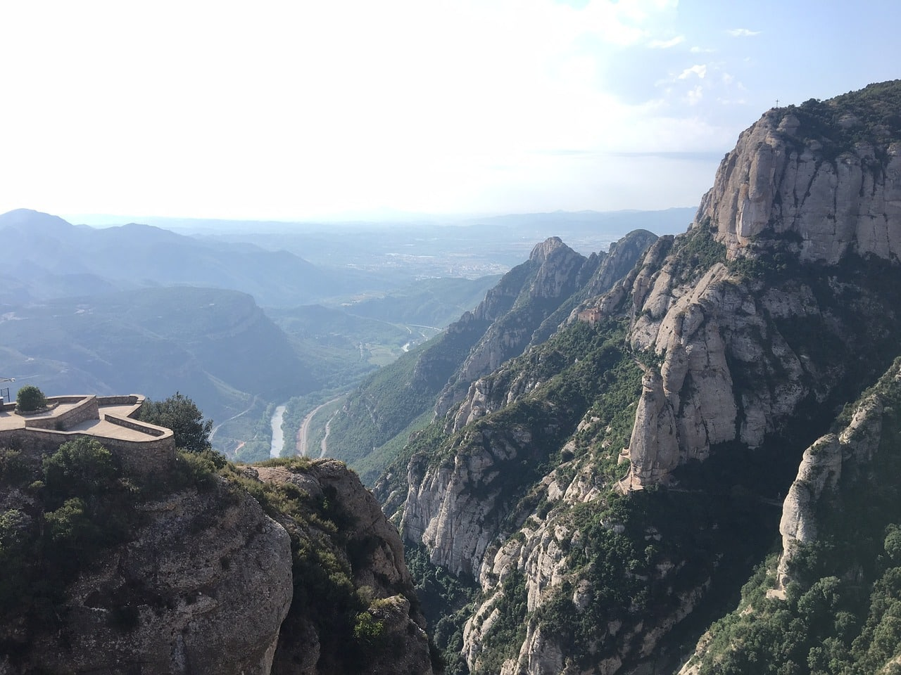 View from Apostles Lookout point in Montserrat