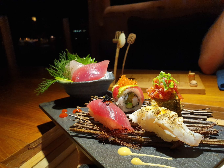 Japanese food at Gili Lankanfushi