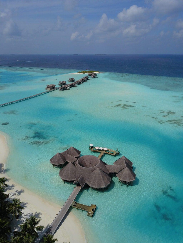 Overwater restaurant at Gili Lankanfushi