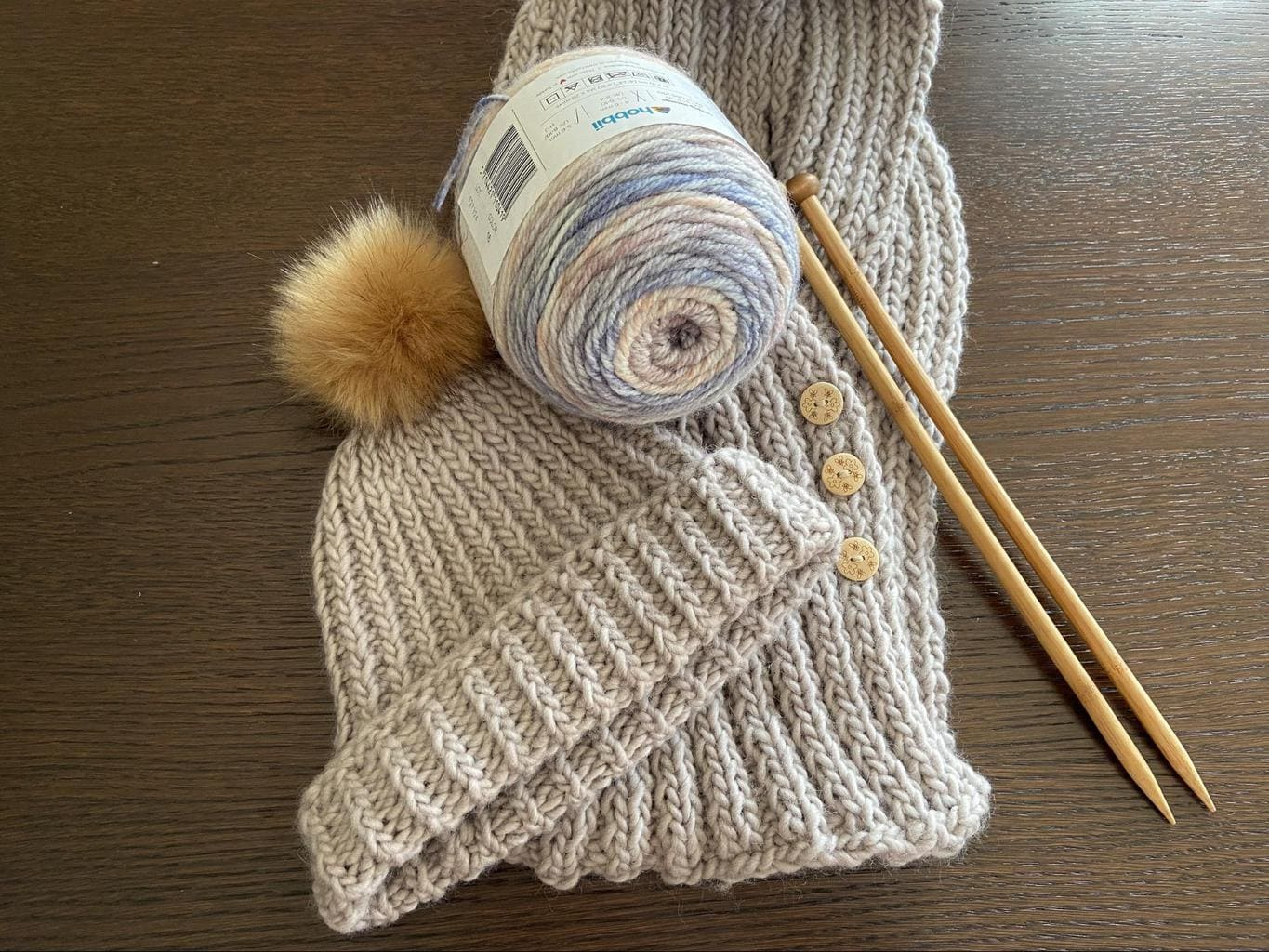 Danny's knitting efforts to avoid being bored at home