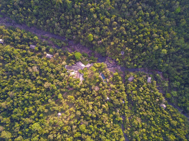 Drone shot of Shinta Mani Wild