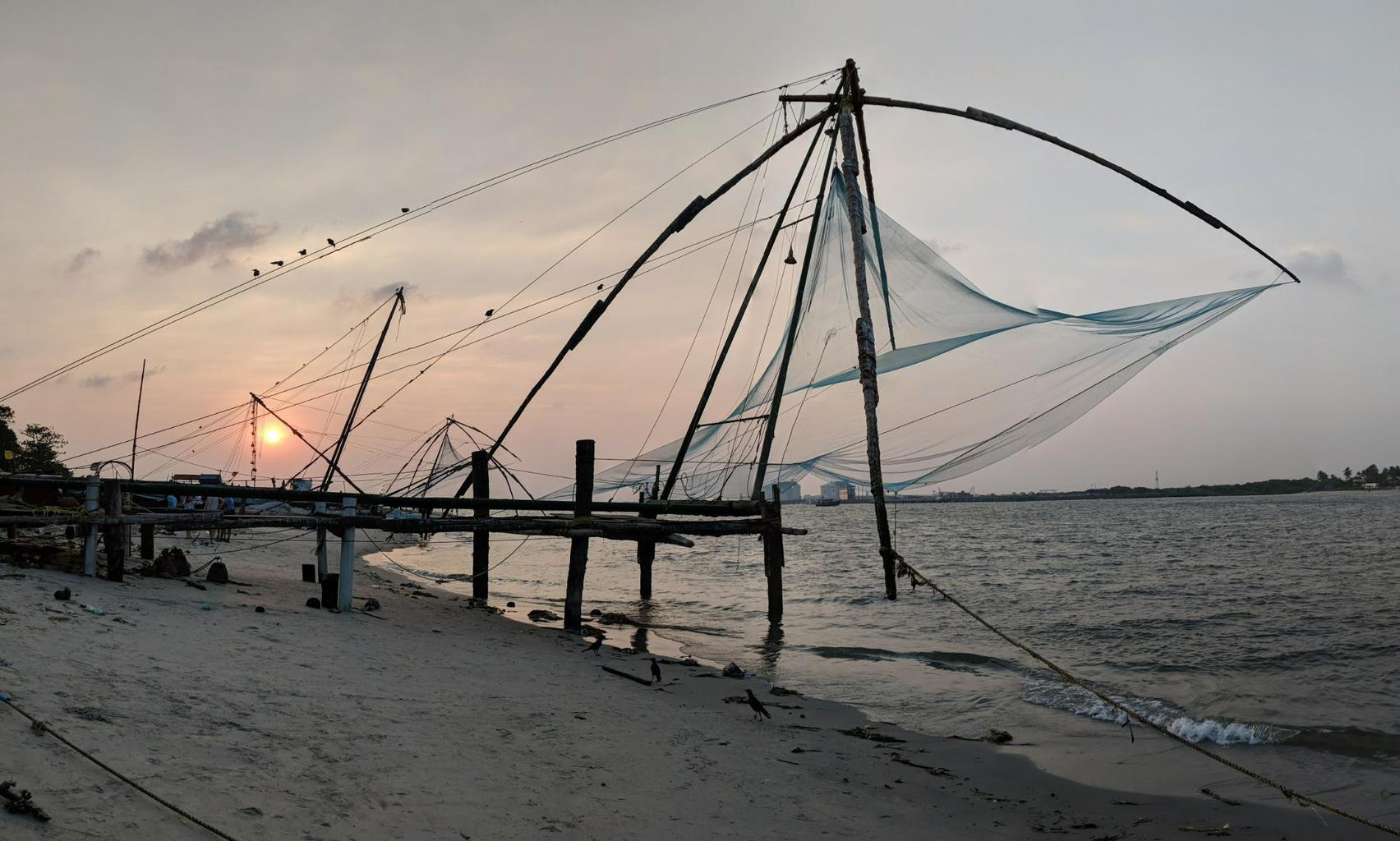 Fort Kochi's Chinese fishing nets