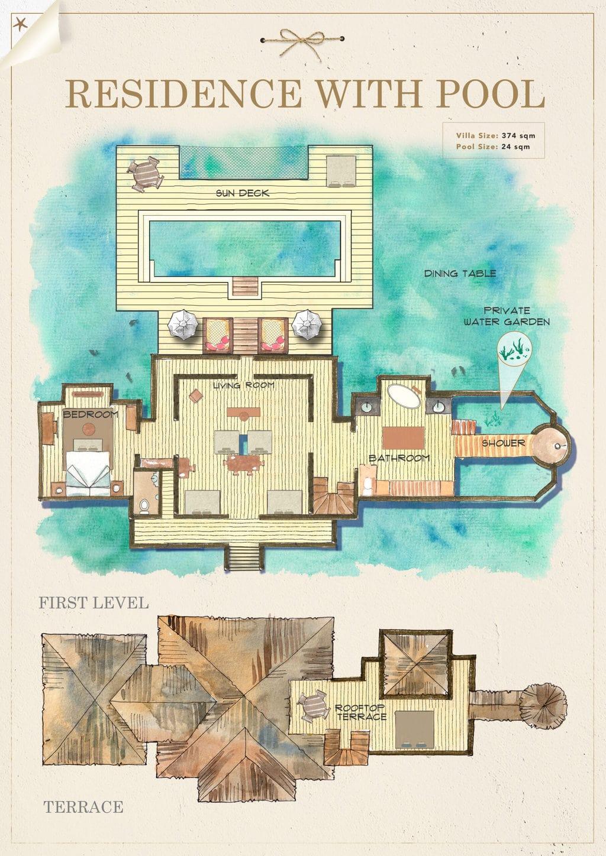 Gili Lankanfushi villa maps