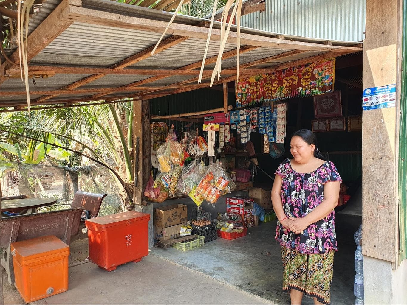 One of the micro-loans given to start a grocery store