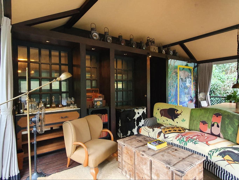 Outdoor verandah and deck at Shinta Mani Wild