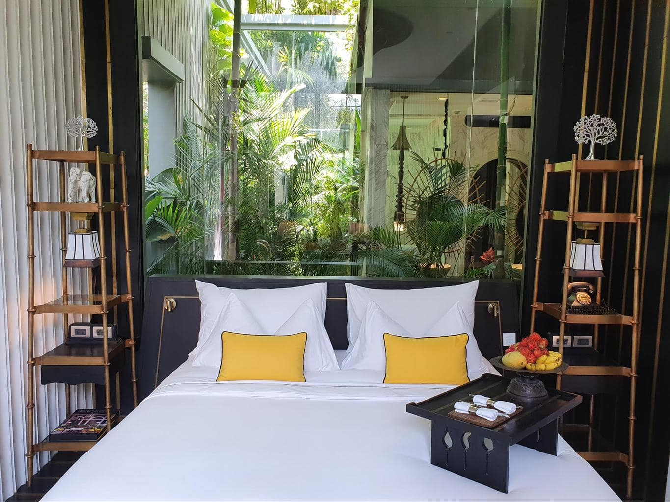 The bedroom at Bensley Collection Shinta Mani Siem Reap