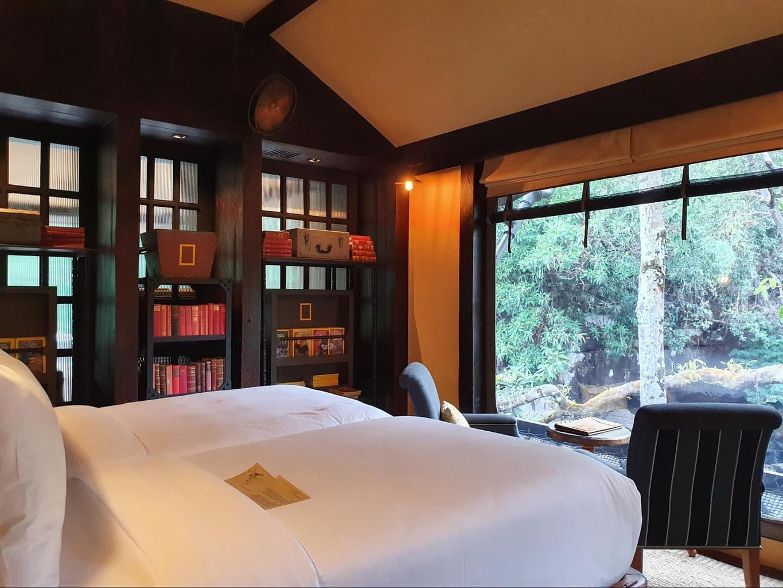 The bedroom at Shinta Mani Wild