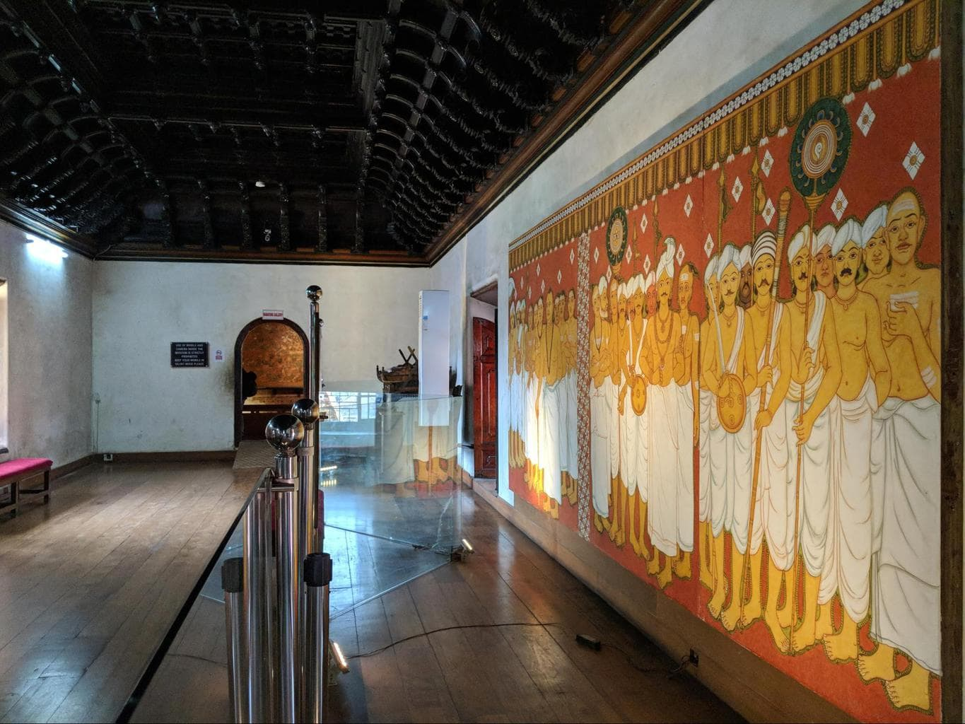 The murals inside Mattancherry Palace