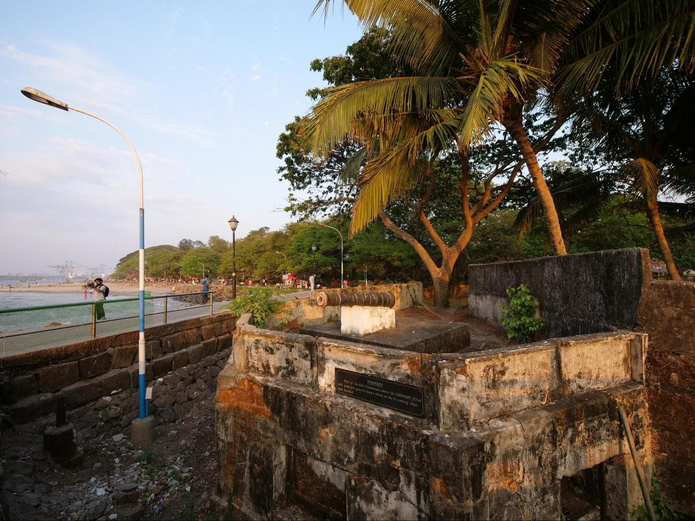 The remnants of Fort Kochi