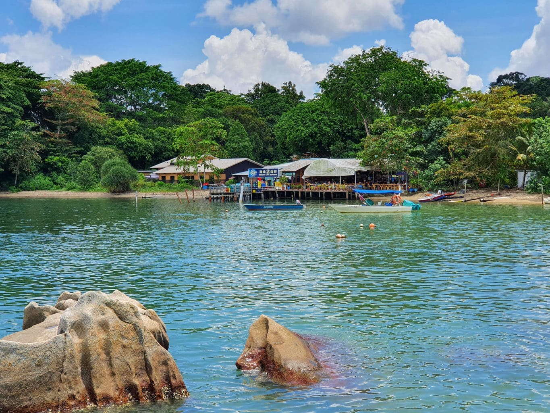 Arriving at Pulau Ubin