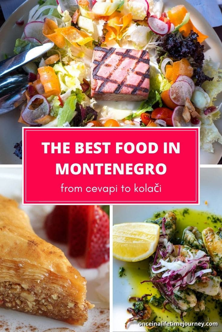 The best food in Montenegro