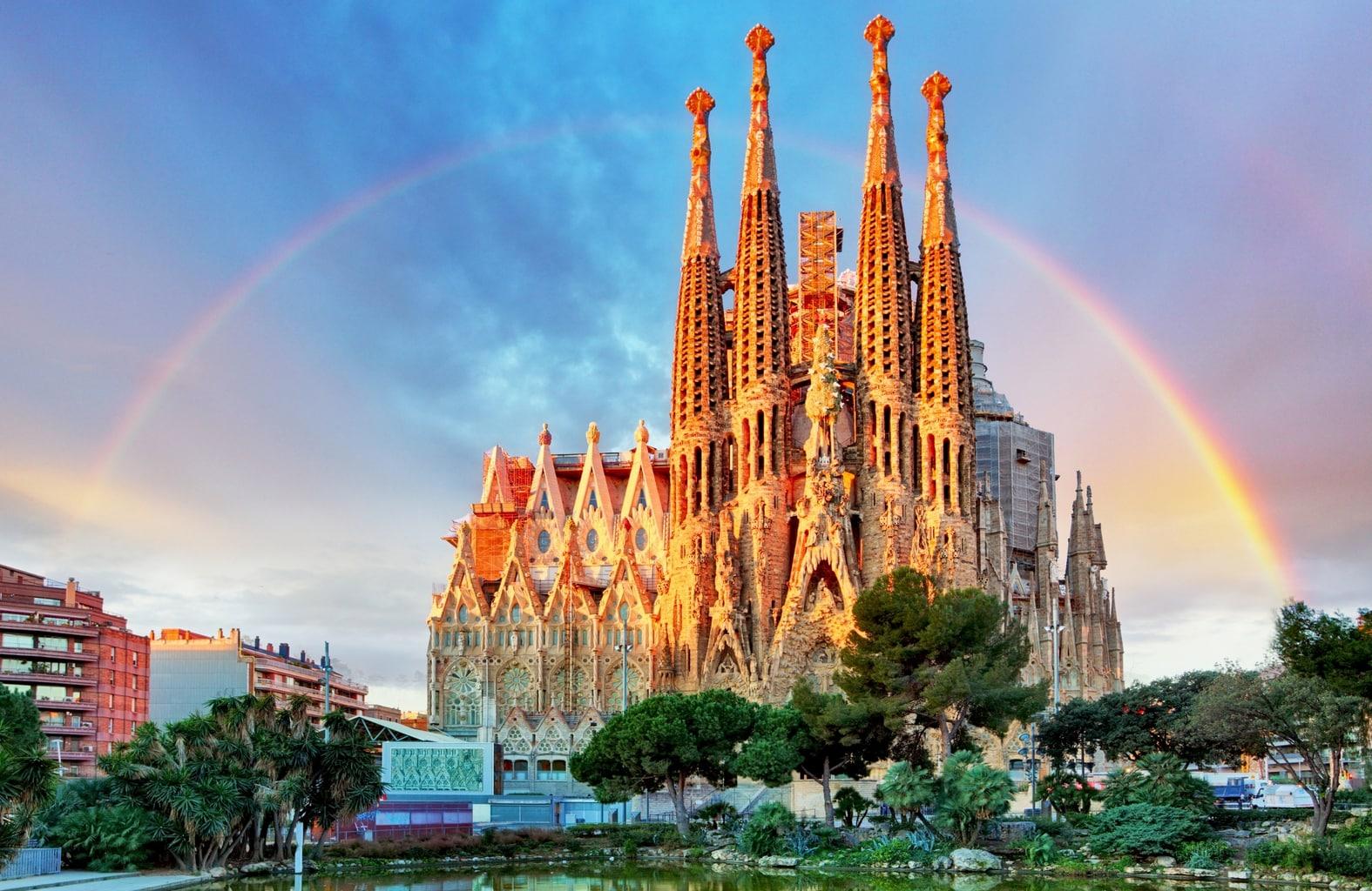 Outside Sagrada Familia