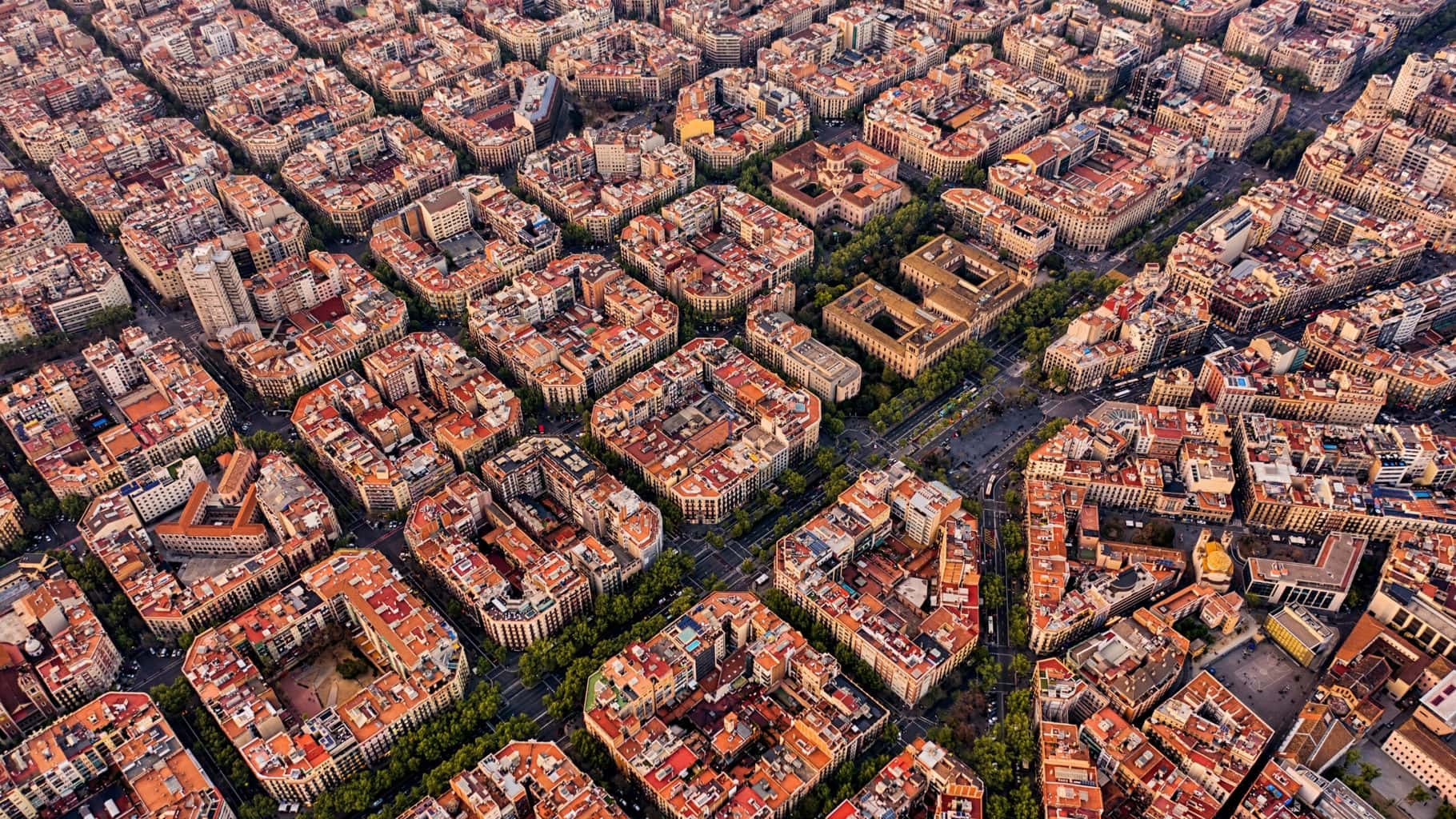 Barcelona University from above