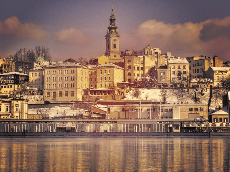 Belgrade in winter