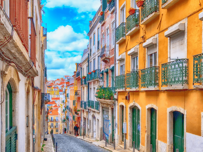 Lisbon's colorful streets