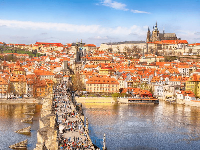 Prague's famous Charles Bridge