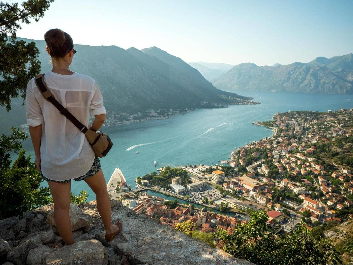 The view on the way up to Kotor fortress