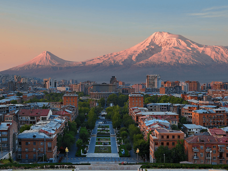 Yerevan at sunset