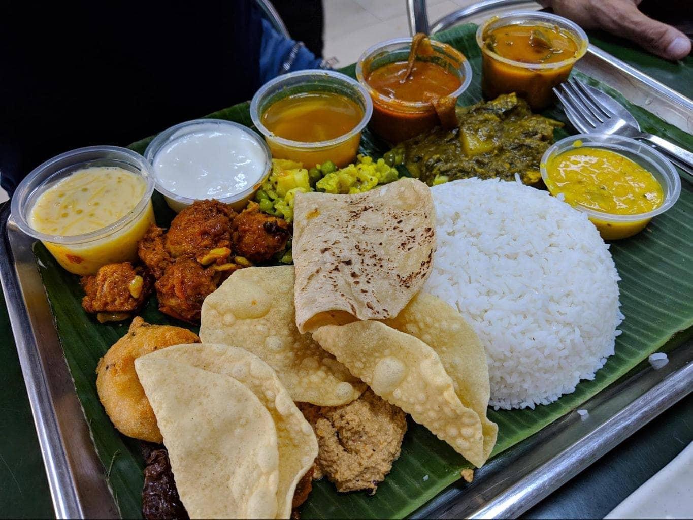 Authentic Indian vegetarian breakfast at Ananda Bhavan
