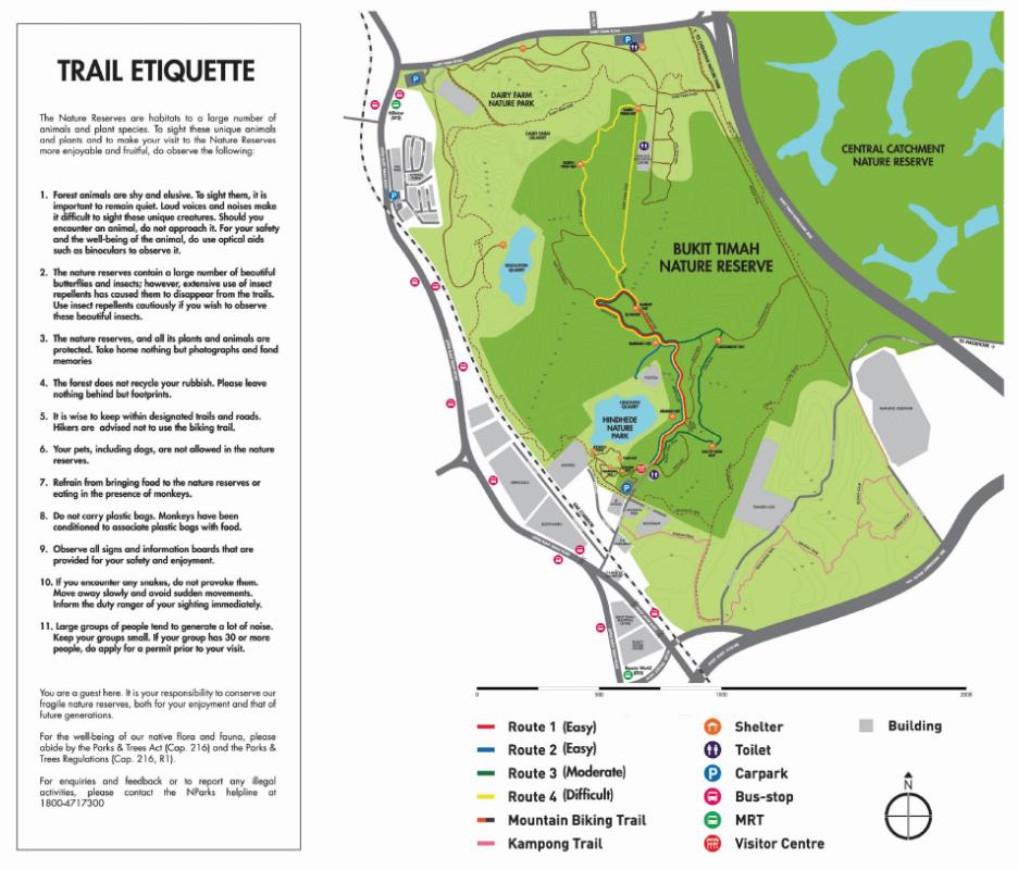 Bukit Timah Nature Reserve Map