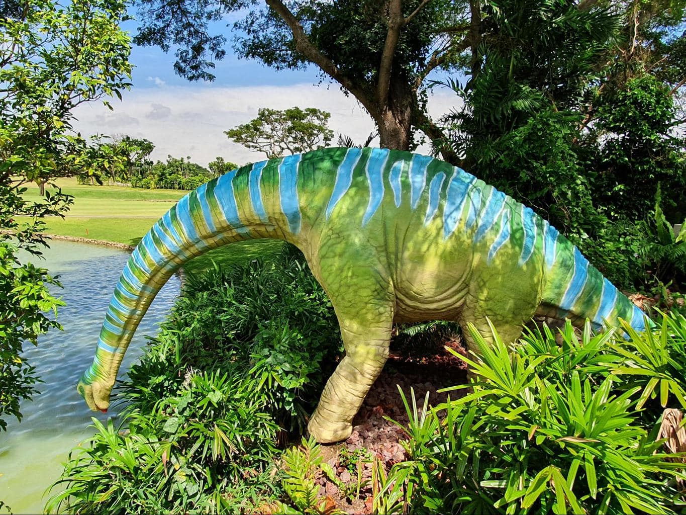 Gorgeous dinosaurs at Jurassic Mile Singapore