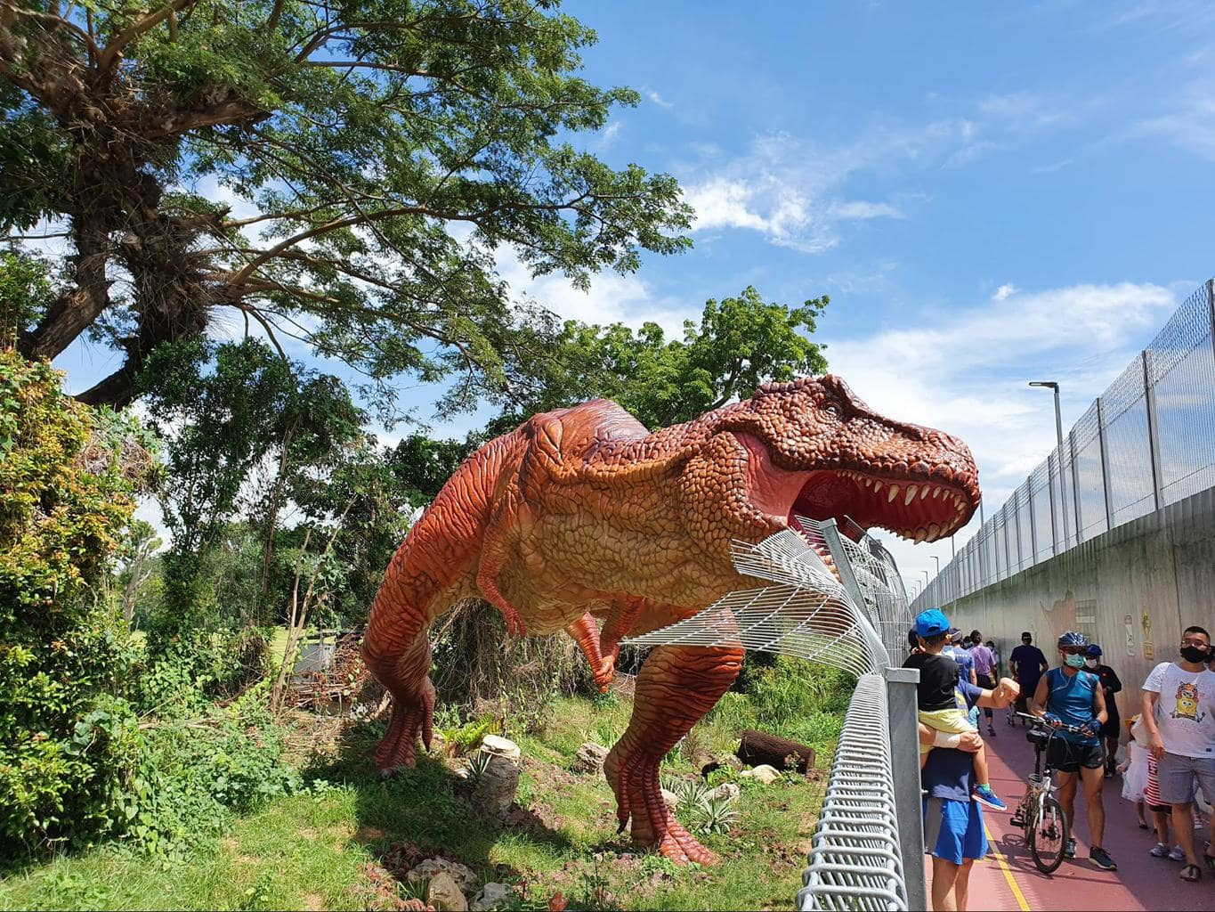 T-Rex at Jurassic Mile in Singapore