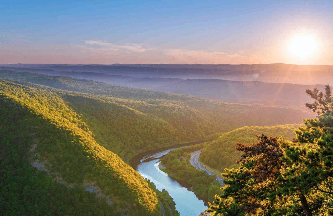 The beautiful Delaware Water Gap