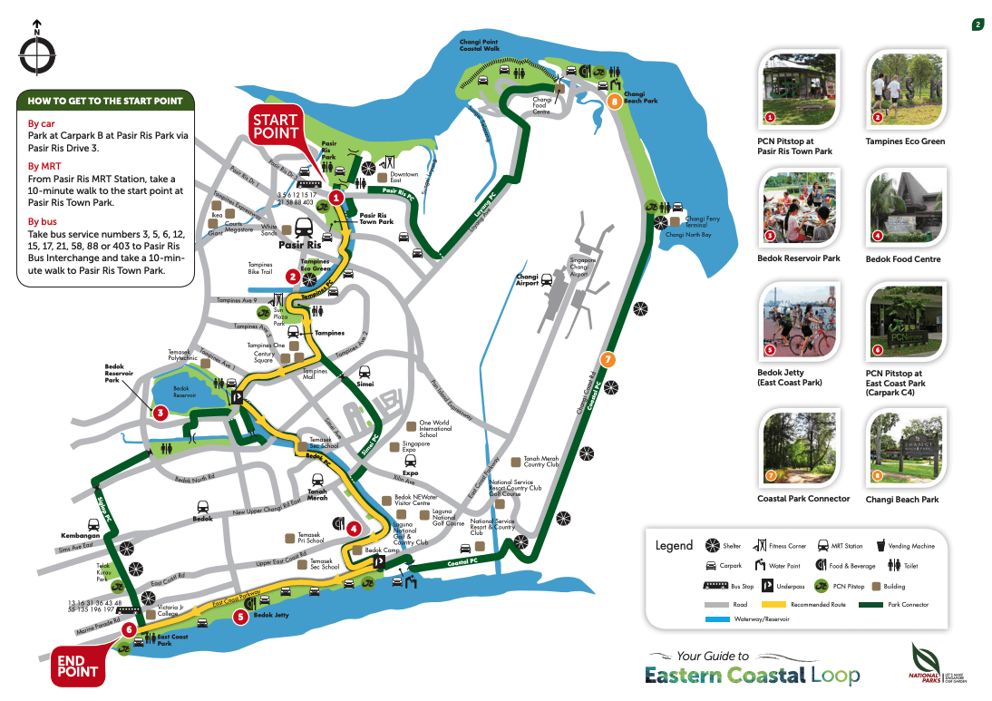 The cycle route toward Jurassic Mile Singapore