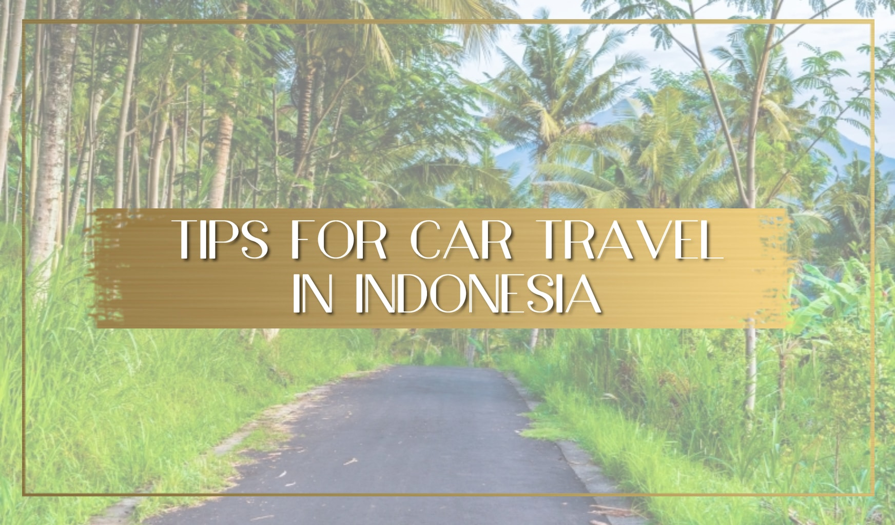 Tips for car traveling in Indonesia main