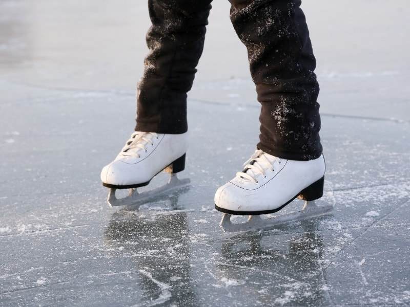You can go ice skating in Singapore