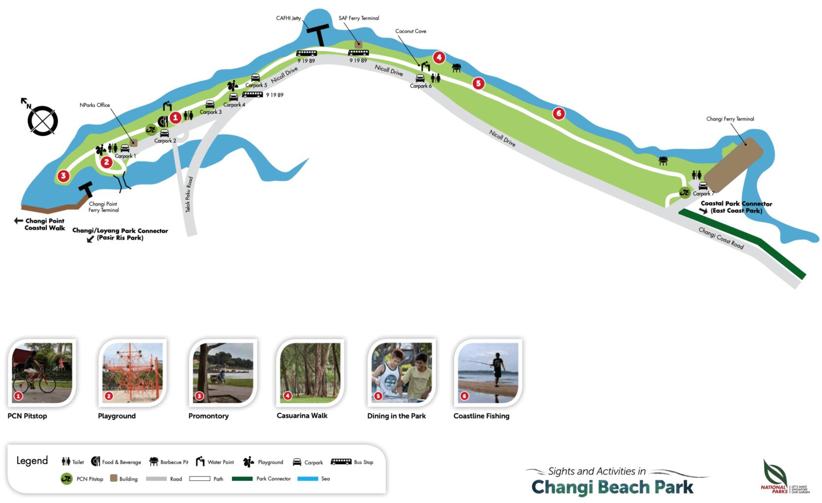 Changi Beach Park map