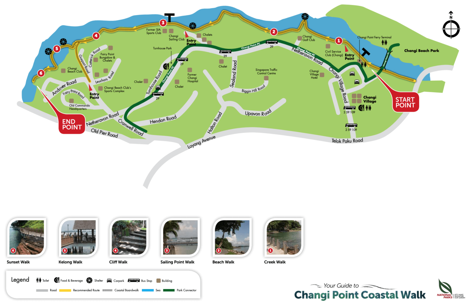 Changi Point Coastal Trail map