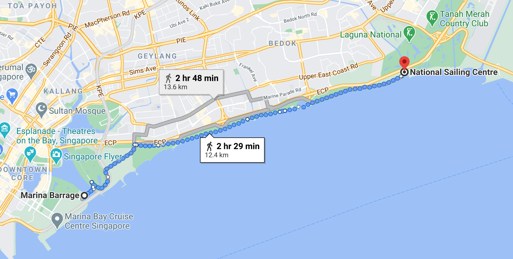 East Coast Park map