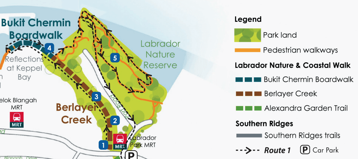 Labrador Nature Reserve map