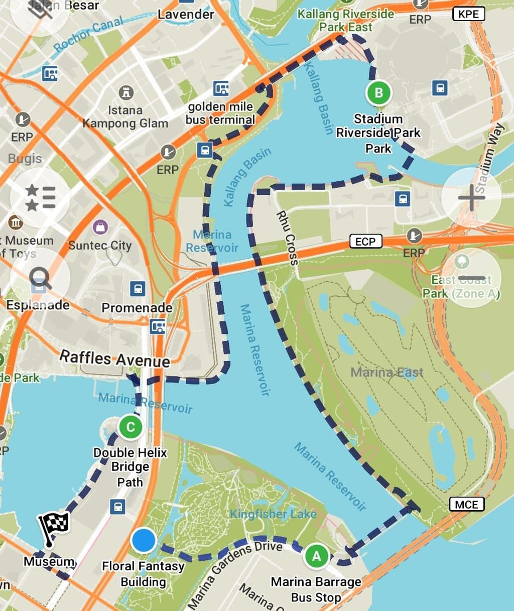 Marina Bay Loop map