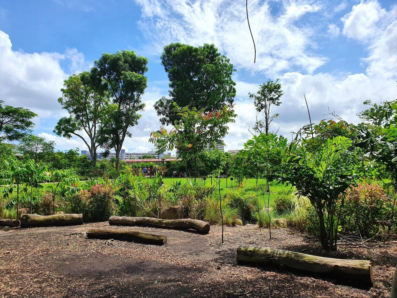 Sembawang Hot Spring Park area for sitting