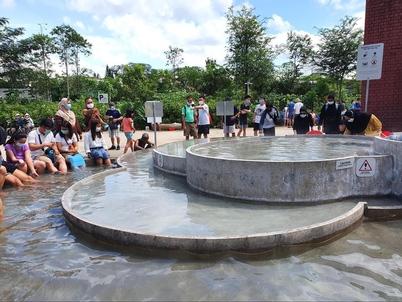Sembawang Hot Spring Park foot bath