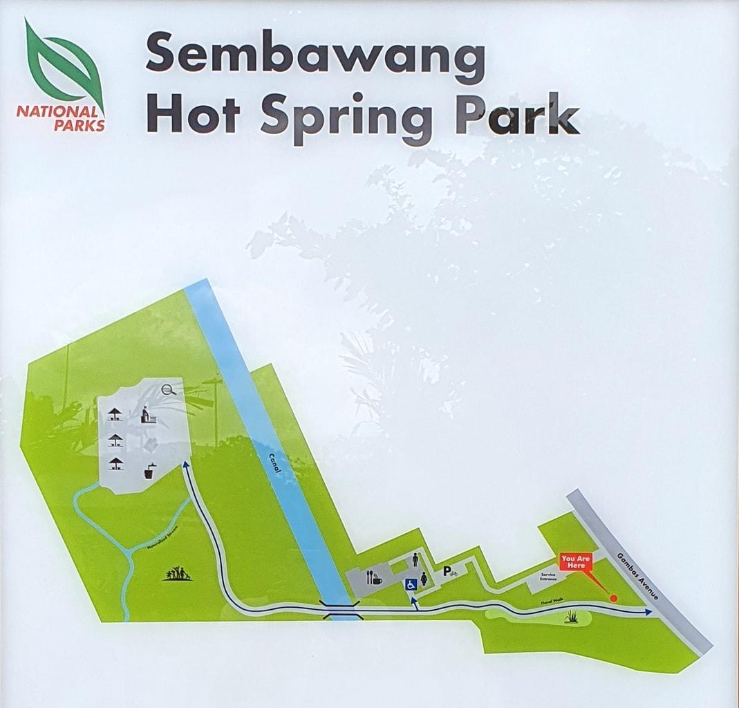 Sembawang Hot Spring Park map