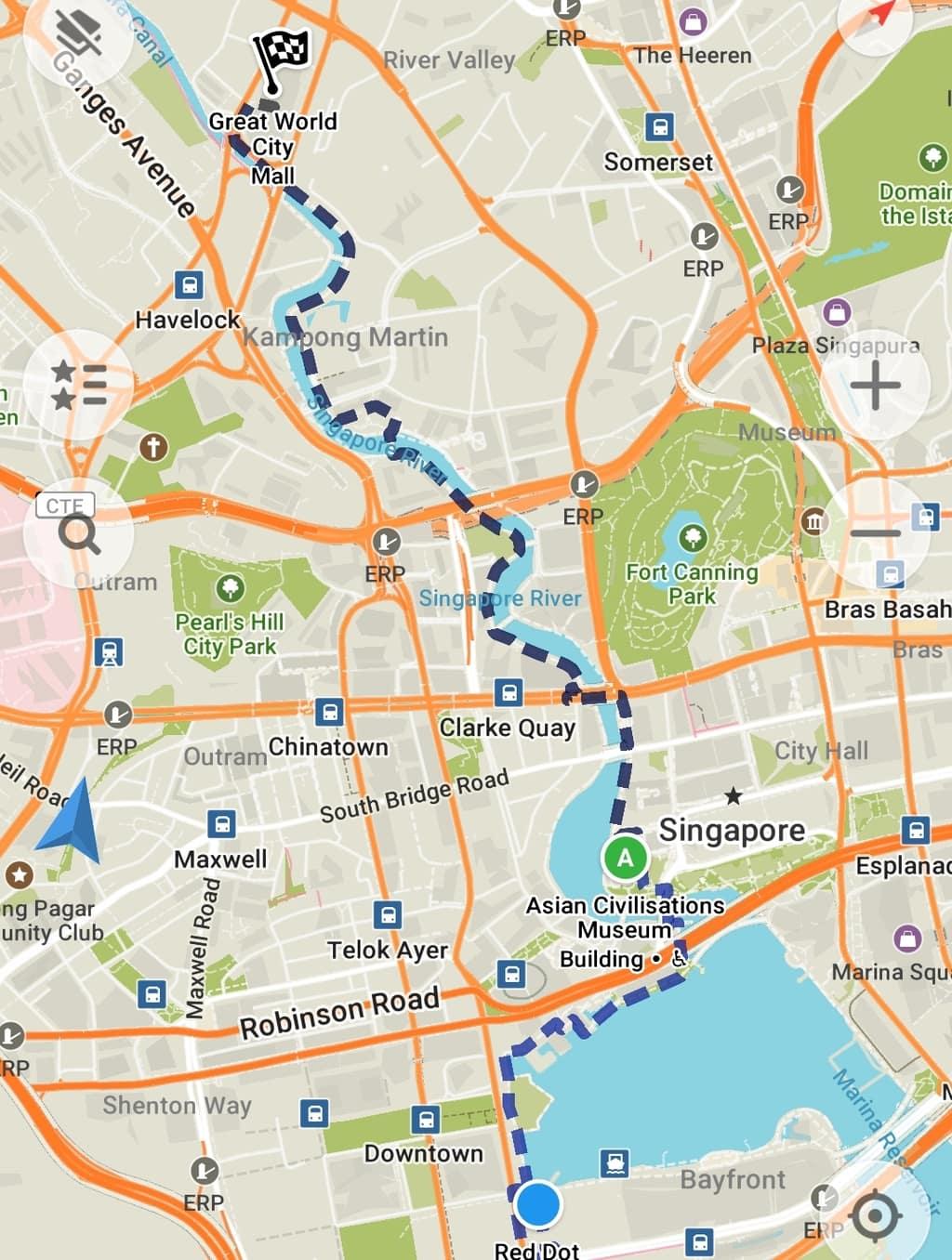 Singapore River walk map