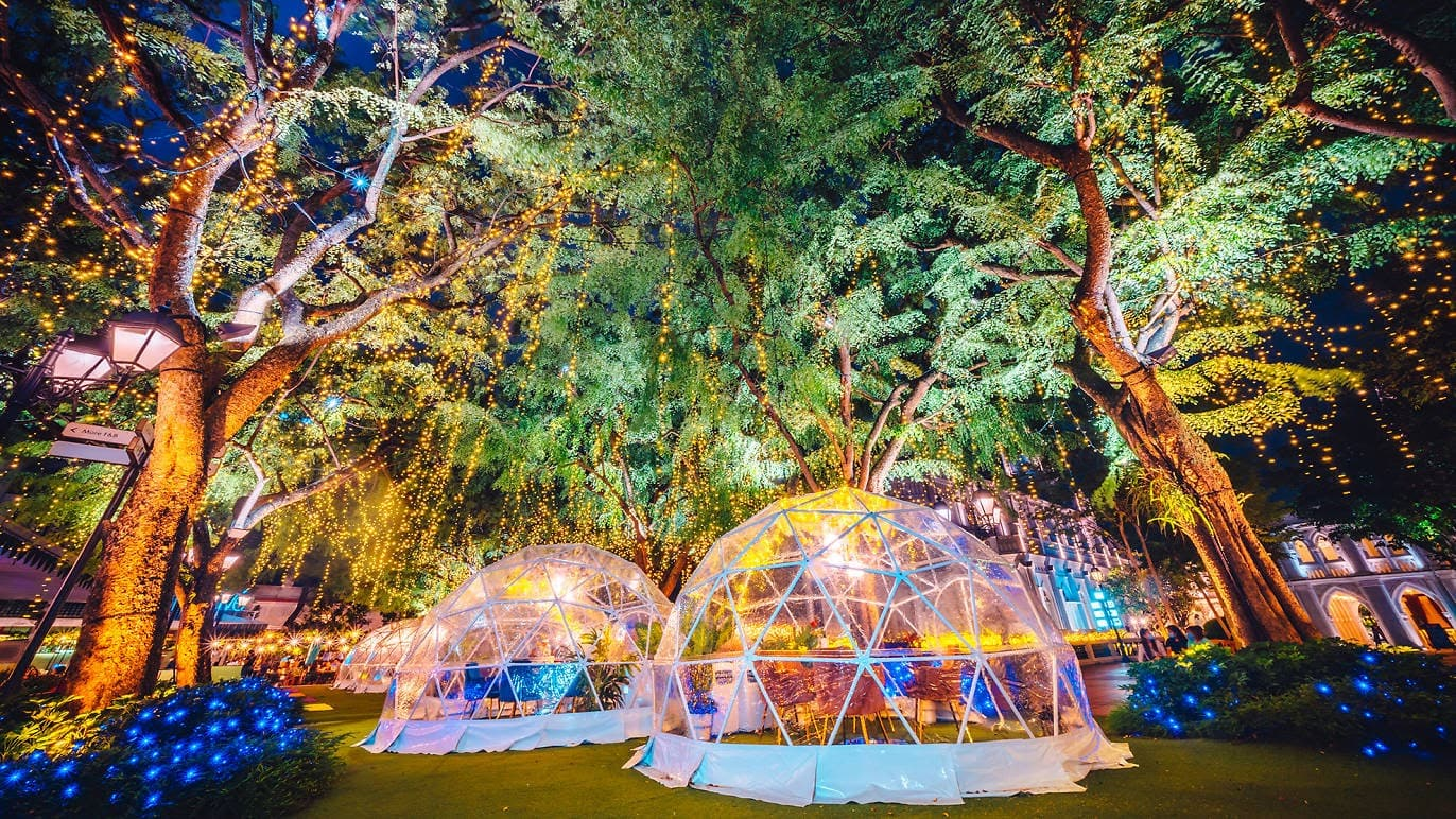 Dinner in a bubble at Chijmes or Capitol