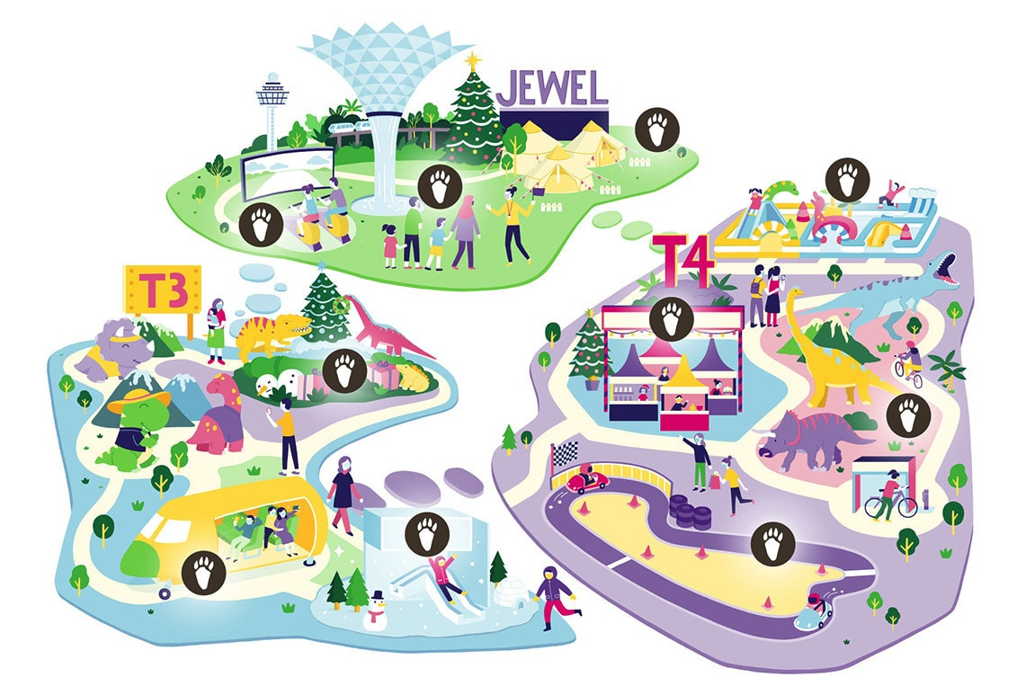 Changi Festive Village at Changi Airport and Jewel