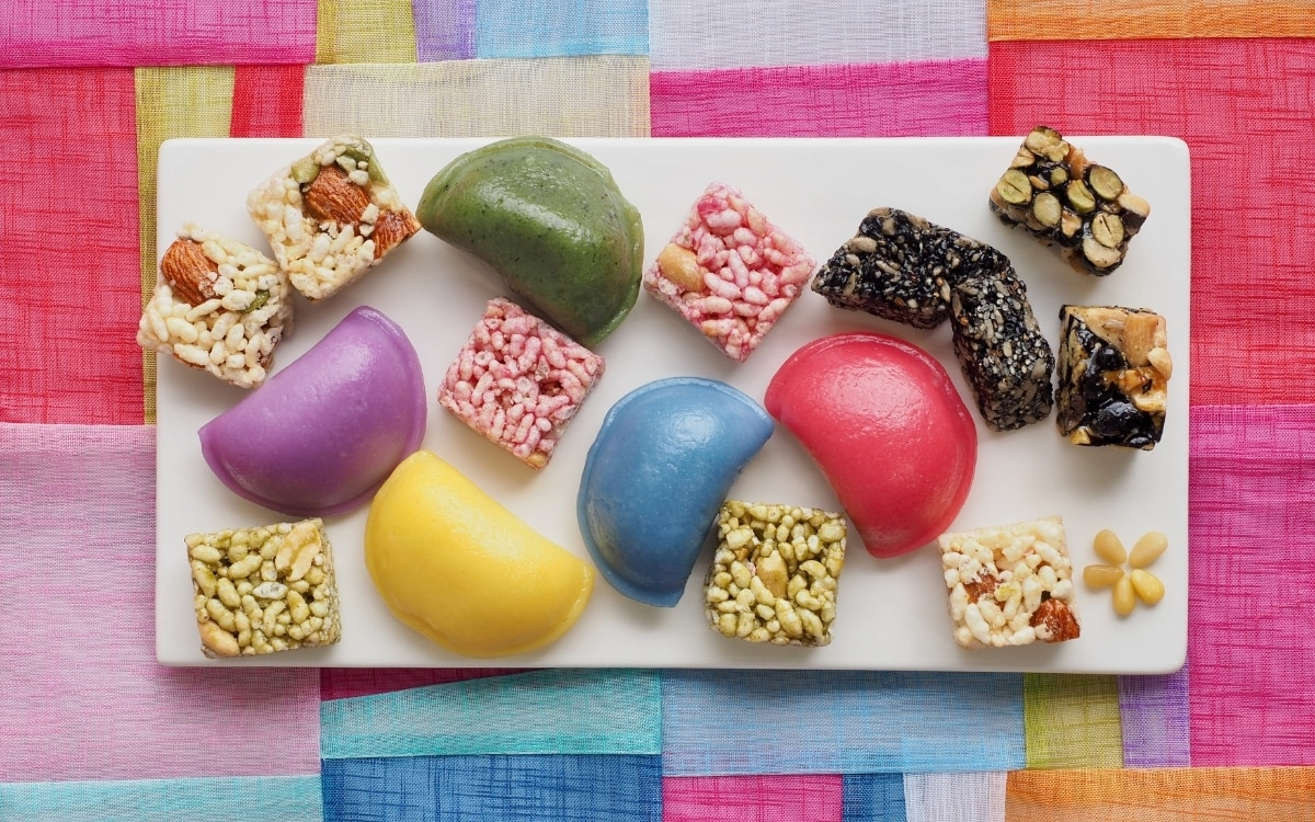 Special snacks during Chuseok, one of the most important South Korean festivals