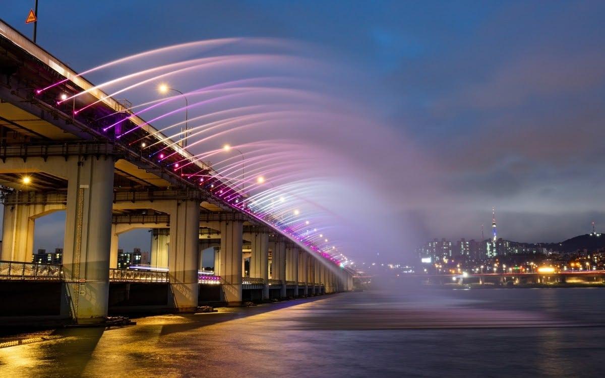 Banpo River Park bridge